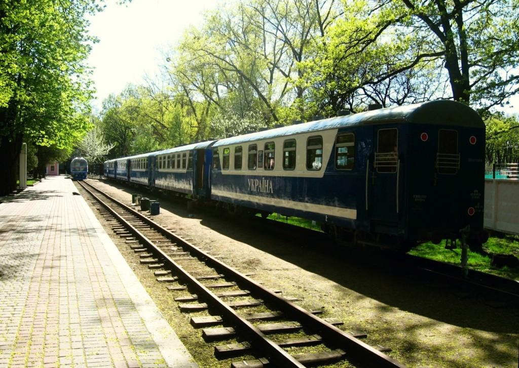 Поезд на ст. Парк Малой Южной ж.д.