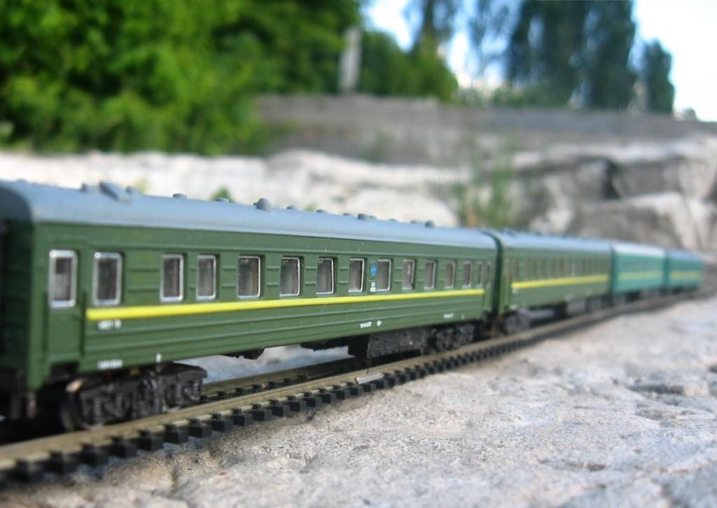 Пассажирский вагон, N(1:160)