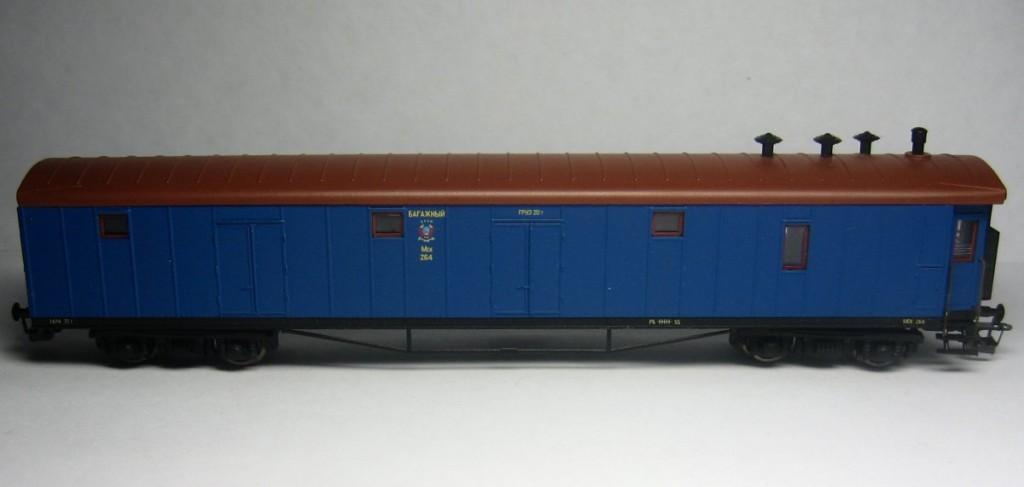 Модель багажного вагона, ТТ (1:120)