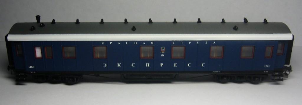 Модель пассажирского вагона 1 класса, ТТ (1:120)