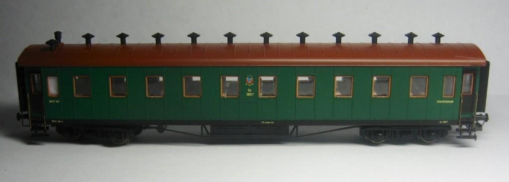 Модель пригородного пассажирского вагона , ТТ (1:120)