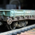 Состаривание модели вагона-платформы, H0 (1:87)
