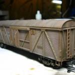 Состаривание модели крытого вагона