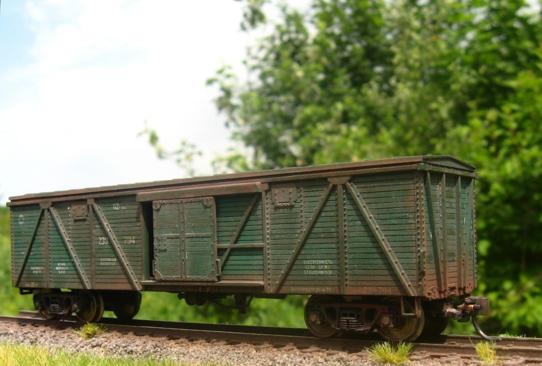 Состаренный крытый вагон